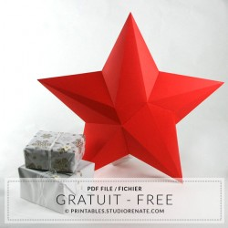 Grosse étoile  3D à télécharger et à assembler soi-même - gratuit ±50 cm