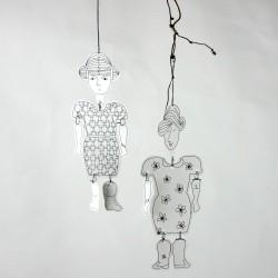 Mlle Paperli - Kit Pantin de papier découpé à décorer et à mettre en scène
